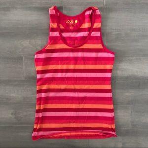 Lole Multicolour Striped Tank Top Shirt size M